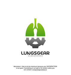 lungs gear logo designs lungs with gear designs vector image
