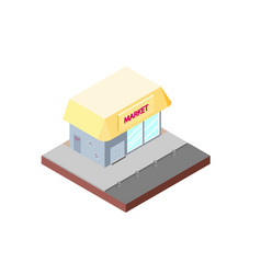 market building in isometric projection necessary vector image