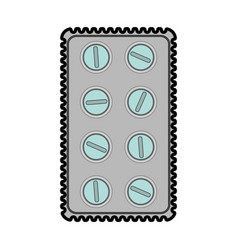 Medication pills package healthcare related ico vector