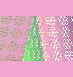 merry christmas vintage background with green tree vector image