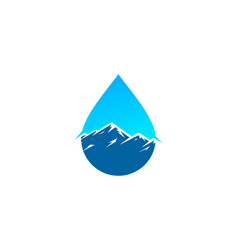 mountain water logo icon design vector image