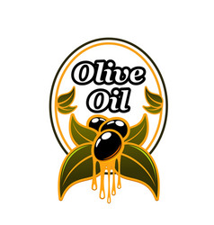 Olive oil advertising badge vector