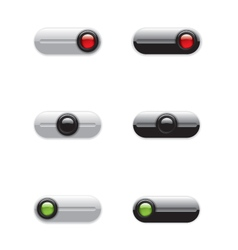 On Off switch buttons vector