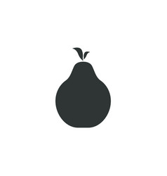 pear fruit icon simple gardening element symbol vector image