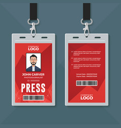 Press id card design template vector