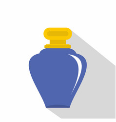 Purple parfume bottle icon flat style vector