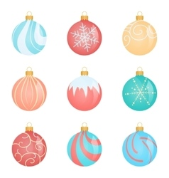 Red Christmas ball with ribbon and a bow isolated vector