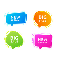 sales badges for labels vector image