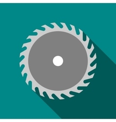 Saw blade icon flat style vector