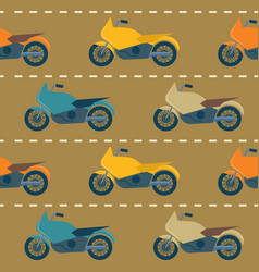 seamless pattern with motorcycles vector image
