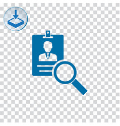 Search id card icon vector