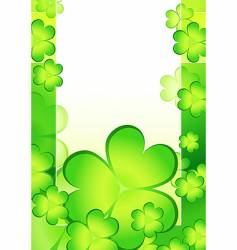 shamrock card vector image