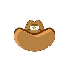 sheriff-hat vector image