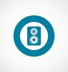 speaker icon bold blue circle border vector image