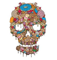 sweet cookies skull vector image