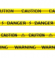 Tapes caution vector