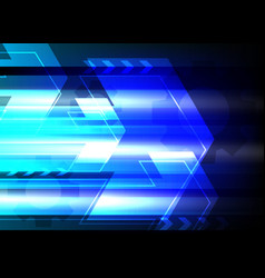 technology blue background geometric arrow vector image