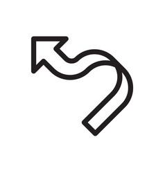 Thin line arrow icon vector