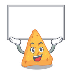 Up board nachos character cartoon style vector