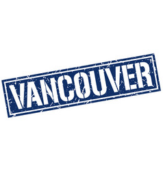 vancouver blue square stamp vector image