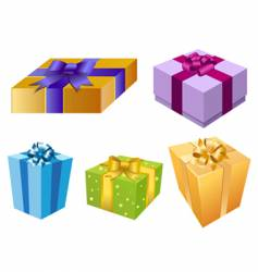 Variety of gift box vector