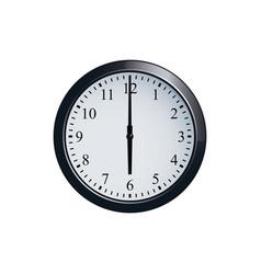 wall clock set at 6 o clock vector image