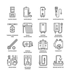 water heater boiler thermostat electric gas vector image