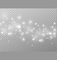 white glowing lights wave isolated on transparent vector image
