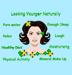 with advice how to stay young vector image vector image