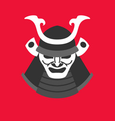 With the armor of a samurai in vector