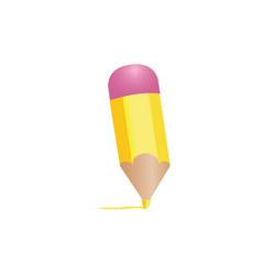 yellow pencil draw vector image