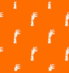 Zombie hand pattern seamless vector