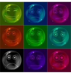 bubbles smileys vector image vector image