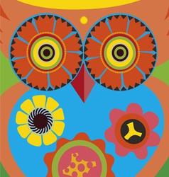 cartoon owl poster vector image vector image