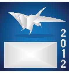 origami 2012 paper dragon vector image
