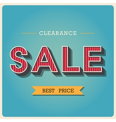 Clearance sale Retro type font EPS10 vector image vector image