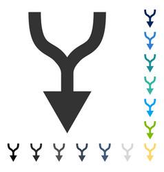 Combine arrow down icon vector