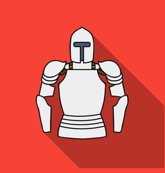 plate armor icon in flat style isolated on white vector image