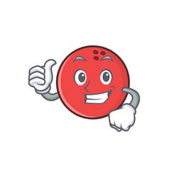 Proud bowling ball character cartoon vector