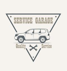 car service labels vector image vector image