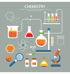 chemistry background education concept flat design vector image vector image