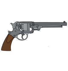 classic six bullets handgun vector image vector image