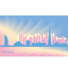 Dubai city skyline vector