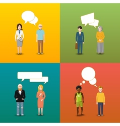 Four couples of people who are engaging in vector image vector image
