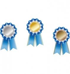 set award ribbons vector image vector image