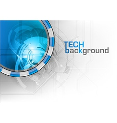 tech background wave vector image vector image