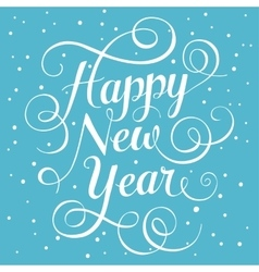 White lettering Happy New Year for greeting card vector image vector image