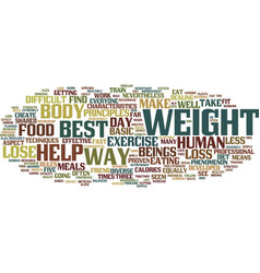 best ways to lose weight text background word vector image vector image