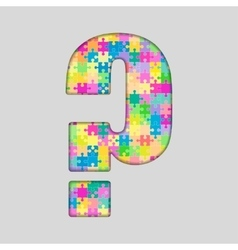Color Puzzle - Question Mark Gigsaw Piece vector image vector image