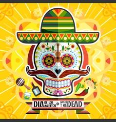 Dia De Los Muertos Day Of The Dead Skull vector image vector image